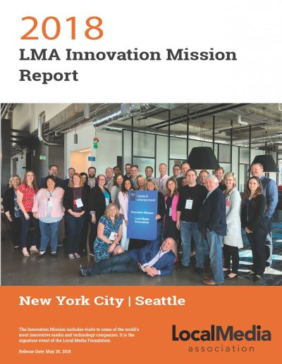 The Innovation Mission includes visits to some of the world's most innovative media and technology companies.
