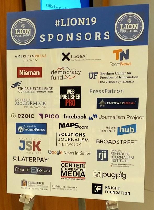 LION sponsors