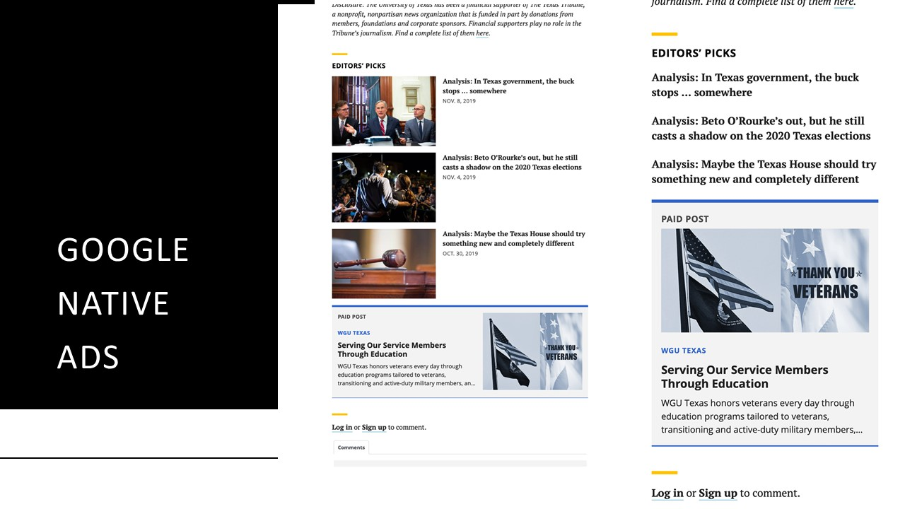 %name Texas Tribune Site Changes Double Advertisers, Time Spent Per Branded Content Post